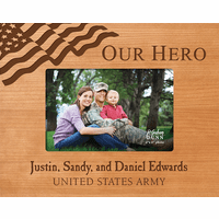 "Our Hero Personalized 4"" x 6"" Picture Frame"