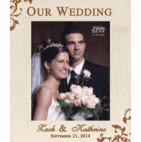 "Our Wedding Personalized 8"" x 10"" Picture Frame - Discontinued"
