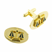 Oval Scales of Justice Cufflinks for Lawyers