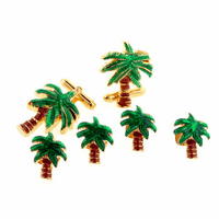 Palm Tree Cufflink & Stud Set