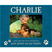 "Paw Prints On Our Hearts Personalized 5"" x 7"" Picture Frame"