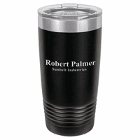 Personalized 20 Ounce Black Polar Camel Travel Mug