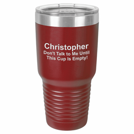 Personalized 30 Ounce Maroon Polar Camel Ringneck Tumbler