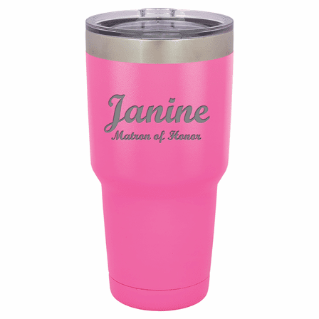 Personalized 30 Ounce Pink Polar Camel Tumbler