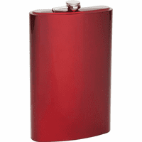 Personalized 64 Ounce Red Flask