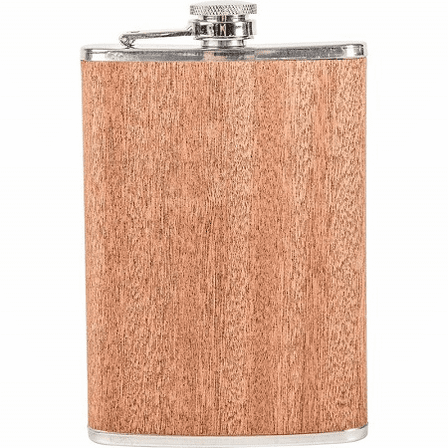 Personalized 8 Ounce Wood Flask