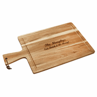 Personalized Acacia Wood Handled Carving Board