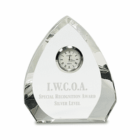 Personalized Arch Premier Crystal Clock