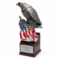 Personalized Bald Eagle & American Flag Award