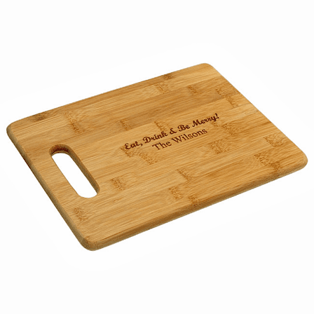 Personalized Bamboo Cutting Board With Handle