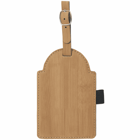Personalized Bamboo Golf Bag Tag with Tees