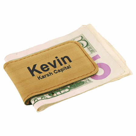 Personalized Bamboo Magnetic Money Clip
