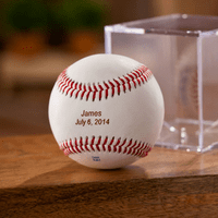 Personalized Baseball and Holder