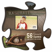 Personalized Baseball Puzzle Piece Photo Frame - Discontinued