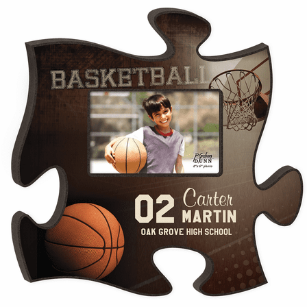 Personalized Basketball Puzzle Piece Photo Frame - Discontinued