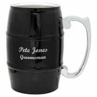 Personalized Black Beer Barrel Mug