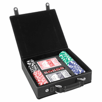 Personalized Black & Gold 100 Chip Poker Set