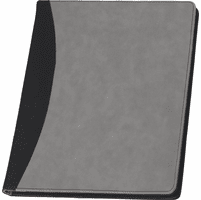 Personalized Black & Grey Padfolio