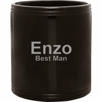 Personalized Black Insulated Can Holder