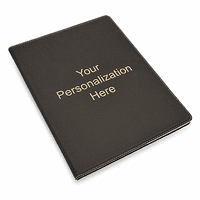 Personalized Black Leatherette Portfolio