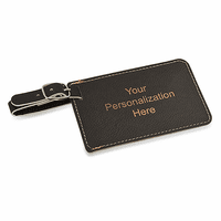 Personalized Black Luggage Tag