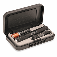 Personalized Black Maglite Solitaire Gift Set