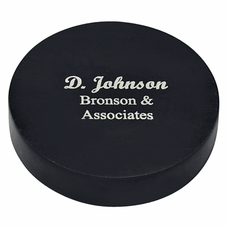 Personalized Black Marble Paperweight