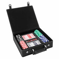 Personalized Black & Silver 100 Chip Poker Set