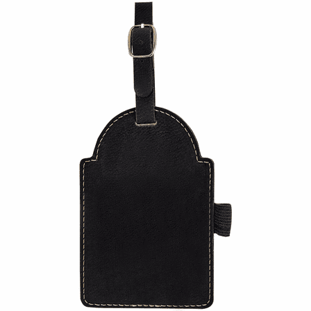 Personalized Black & Silver Golf Bag Tag with Tees