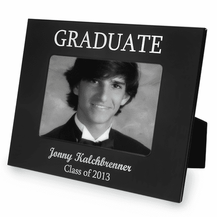 Personalized Black & Silver Graduation Picture Frame