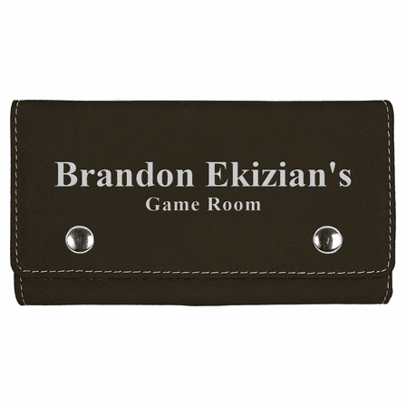 Personalized Black & Silver Playing Cards & Dice Set