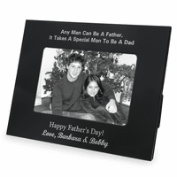 Personalized Black & Silver Special Man To Be A Dad Picture Frame