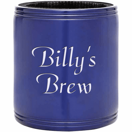 Personalized Blue Insulated Can Holder