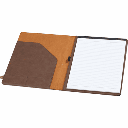 Personalized Brown & Tan Padfolio