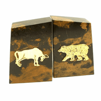 Personalized Bull & Bear Bookends