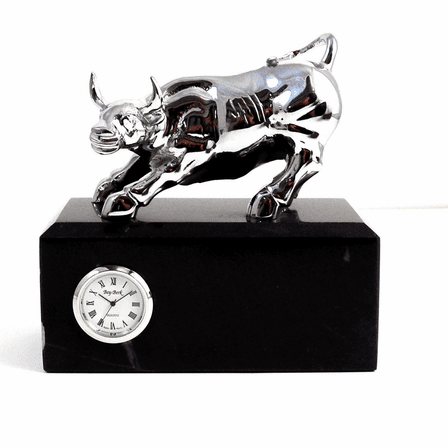 Personalized Bull Desk Clock