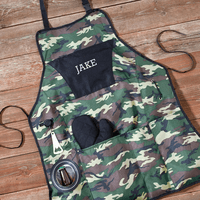 Personalized Camouflage Grilling Apron