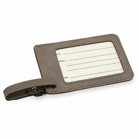Personalized Charcoal Luggage Tag