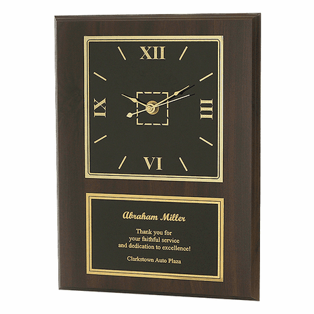 Personalized Cherry Plaque With Clock