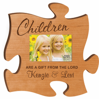 Personalized Children Puzzle Piece Photo Frame