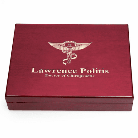 Personalized Chiropractor Theme Humidor