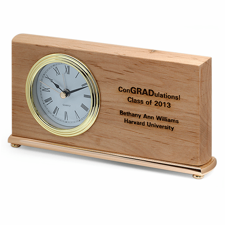Personalized ConGRADulations Desk Clock