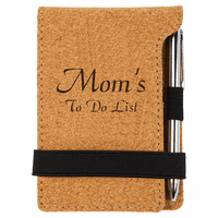Personalized Cork Note Pad & Pen
