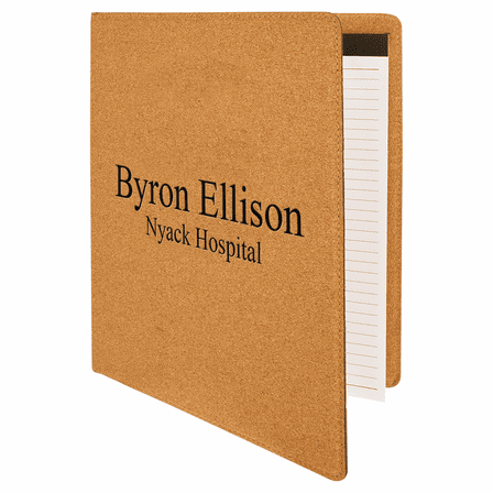 Personalized Cork Portfolio with Notebook