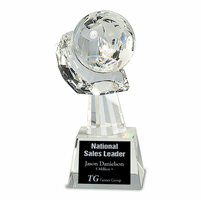 Personalized Cradled Crystal Globe