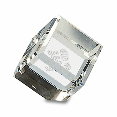 Personalized Crystal Cube Paper Weight