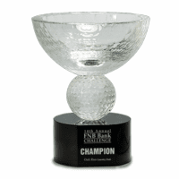 Personalized Crystal Cup With Golf Ball