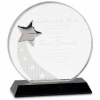 Personalized Crystal Embedded  Star Award