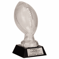 Personalized Crystal Football Award