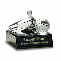 Personalized Crystal Golf Ball With Driver